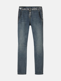 Verona with silver coating - Medium Blue Denim