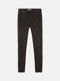 Verona trousers with zebra print - Almost Black
