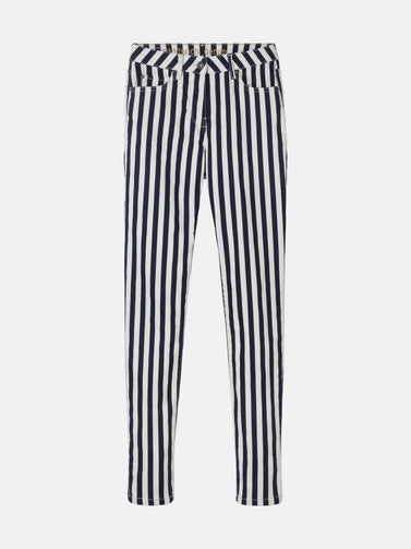 Striped skinny - Maritime Blue