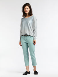 High waist skinny - Cropped - Anise Green