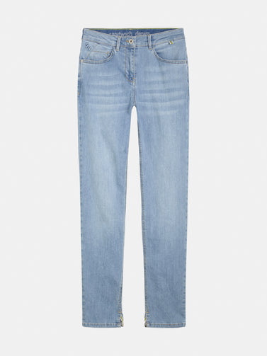 High waist skinny cropped - Light Blue Denim