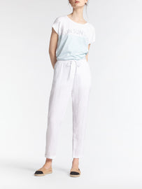 Comfortable linen pant -Pure White