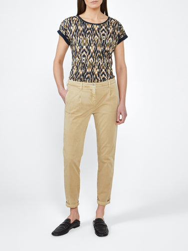 Slim fit trousers -Warm Sand