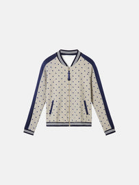 Bomber jacket with dots - Humus