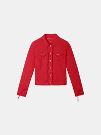 Linen jacket - Pop Red