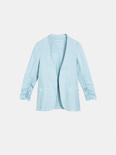 Blazer with smocked sleeves - Forget Me Not