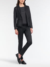 Blazer with coating  -Black