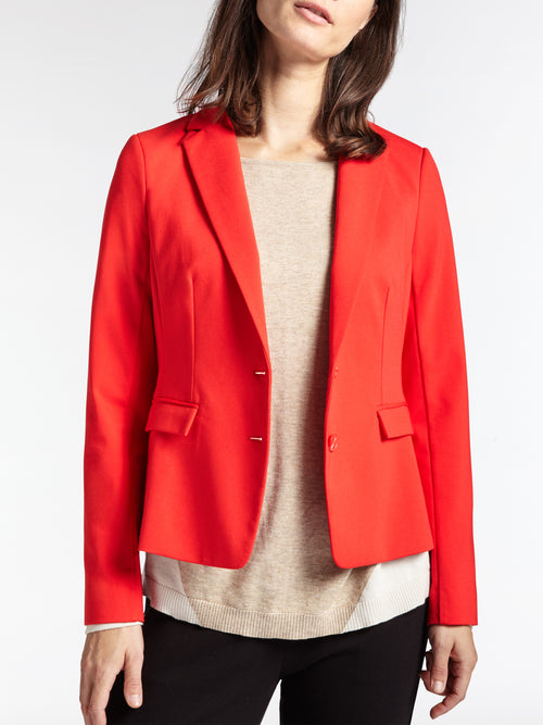 Tailored blazer -Red