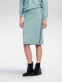 Skirt with contrasting stripe  -Granite Green Heather