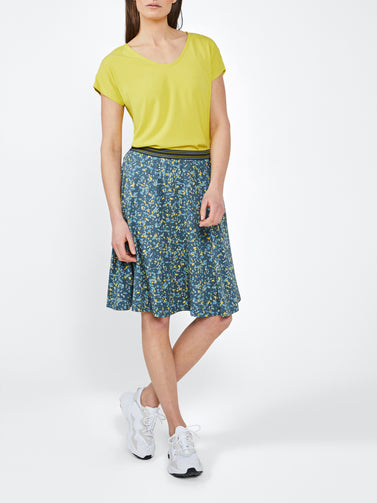 Midi Skirt -Deep Water Green