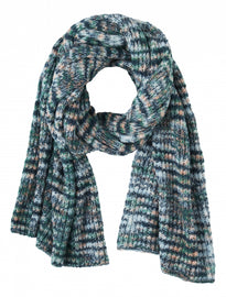 Multi coloured knitted scarf - Emerald