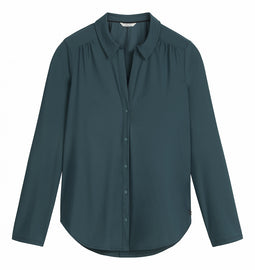 Travel jersey blouse  -Emerald