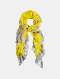 Scarf with palm print - Blazing Yellow