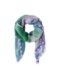 Scarf with all-over print - Velvet Lilac