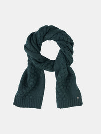 Knitted scarf  -Emerald Heather