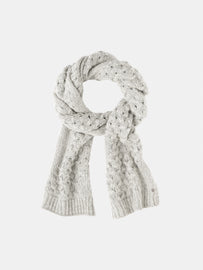 Knitted scarf  -Winter Grey Heather