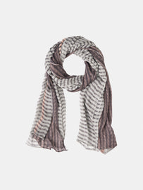 Scarf with a mix of all-over prints -Magnet