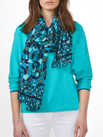 Scarf with print- Deep Lake
