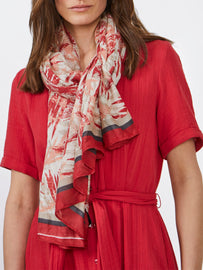 Scarf with print- Ruby Blush
