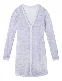 Long cardigan with openwork feature - Pastel Lilac