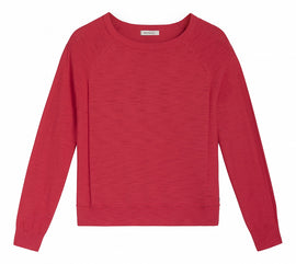 Sweater with rib detail - Pop Fuchsia