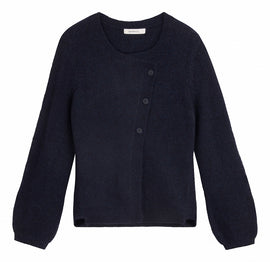 Cardigan with asymmetrical button closure - Night Sky