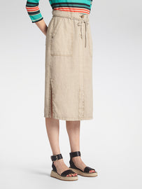 Midi length skirt -Humus