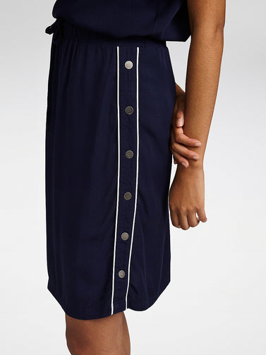 Skirt with buttons - Maritime Blue