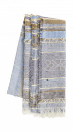 Scarf with elegant print -Blue Grey