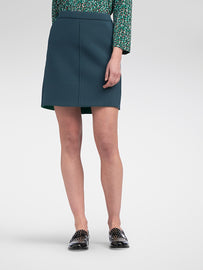 Scuba skirt with inside out seam  -Emerald
