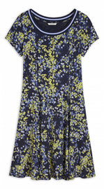 Dress with floral print - Navy