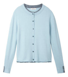 Mottled cardigan - Aqua