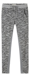 Verona trousers with zebra print - Pale Sky