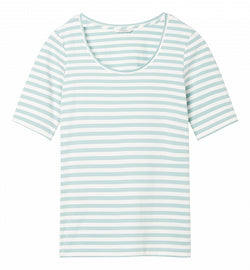 Essential t-shirt with stripes - Anise Green