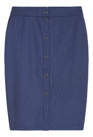 Stretchy denim skirt -Blue Denim
