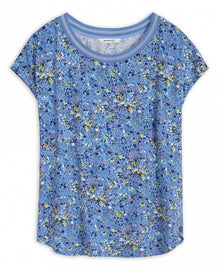T-shirt with colourful floral print -Fresh Sky