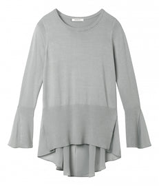 Sweater with sheer insert - Pale Sky