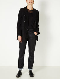 Blazer with matching belt - Black