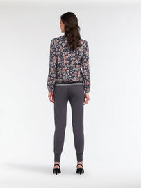 Top with floral print and rib-knit hem - Magnet
