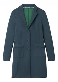 Long blazer made of scuba material - Emerald