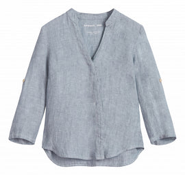 Linen blouse -Blue Grey Denim