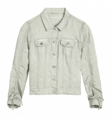 Linen jacket - Forget Me Not