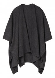 Mottled Poncho - Black