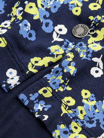 Top with floral print -Navy
