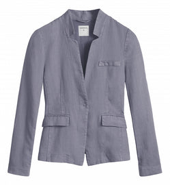 Linen blazer -Blue Grey