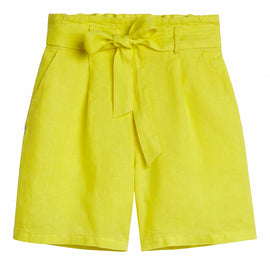 Paper bag shorts - Blazing Yellow