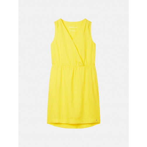 Sleeveless dress with wrap effect - Blazing Yellow