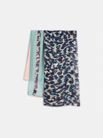 Pastel-coloured scarf with all-over print -Night Sky