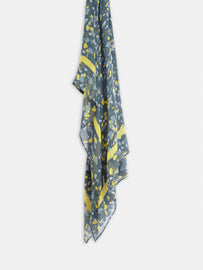 Scarf with all-over painted print -Coral