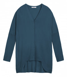Cardigan with long back  - Lagoon